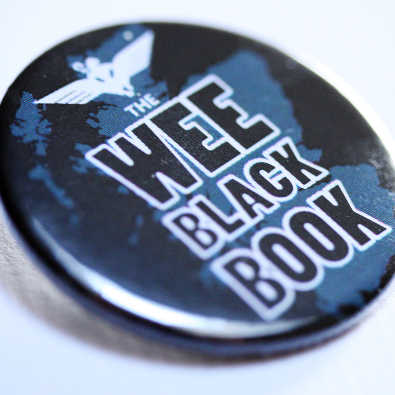 Wee Black Book 38mm badge