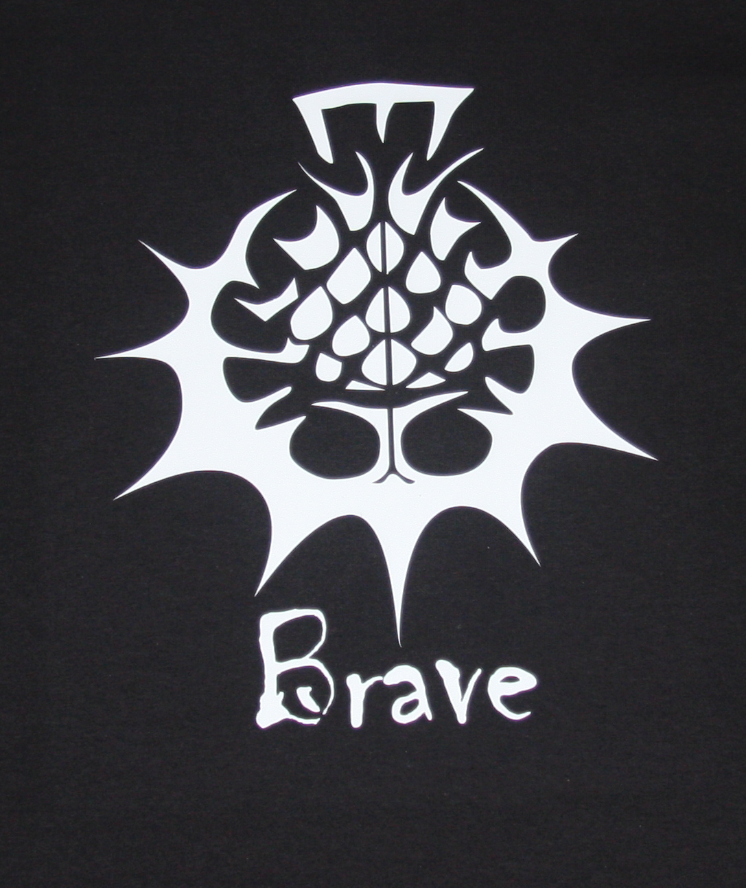 Brave T-Shirt - White on Black