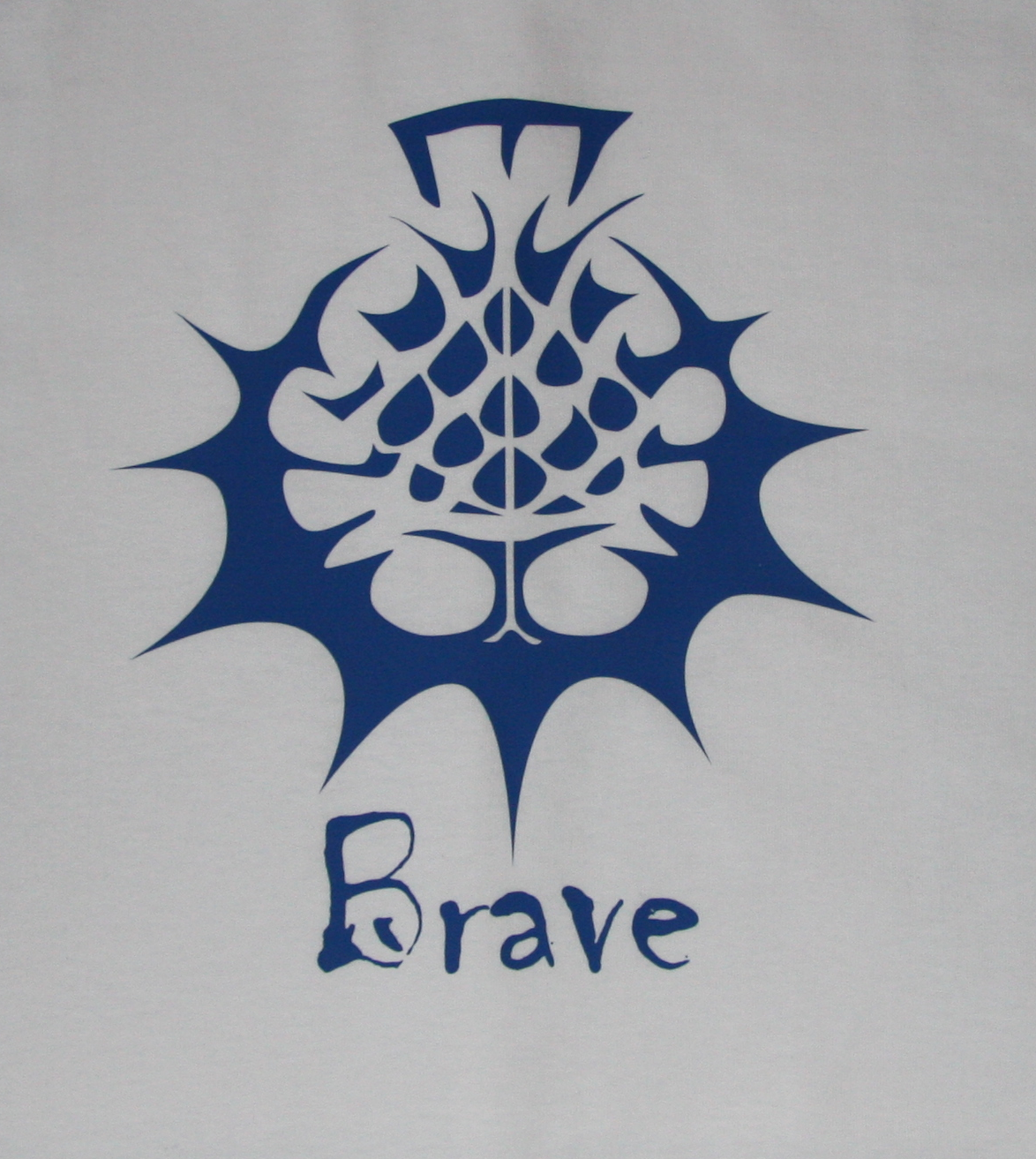 Brave T-Shirt - Blue on White