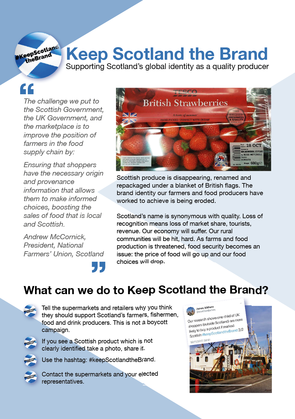 Keep Scotland the Brand leaflets