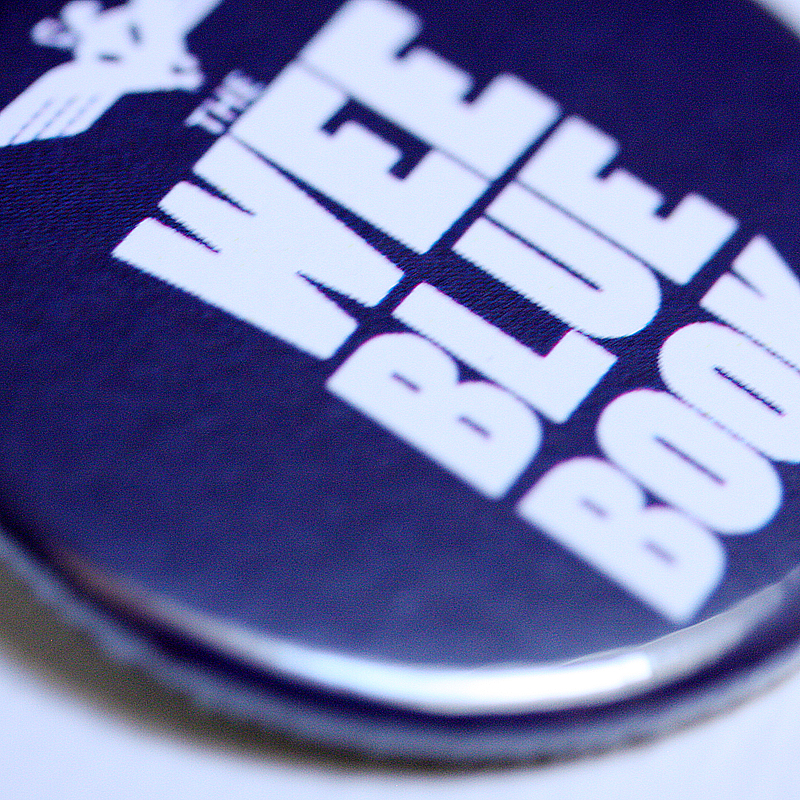 Wee Blue Book 38mm badge