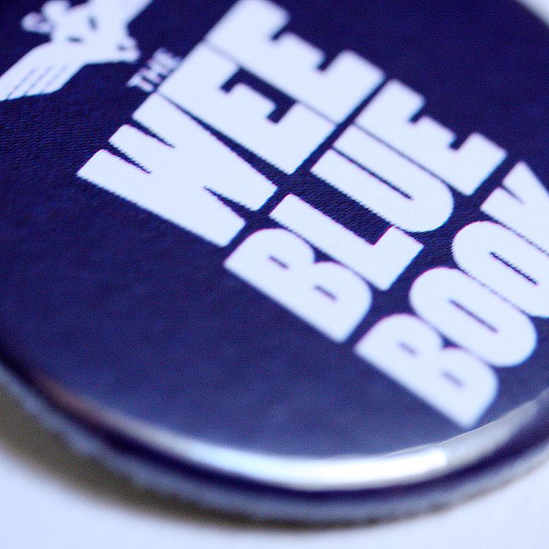 Wee Blue Book 38mm badge (10 PACK)